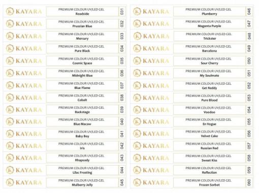 Set 30 x Sticker pentru tips gel color Premium Kayara 031-060