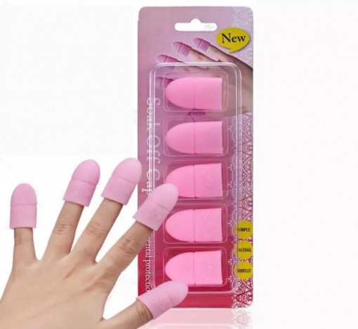 Set 5 capsule din Silicon Pink