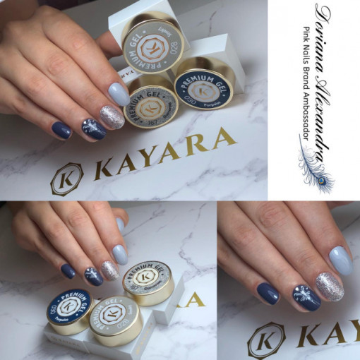 Gel color premium UV/LED Kayara 028 Smoky