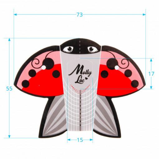 Rola 500 sabloane Mollylac Ladybug