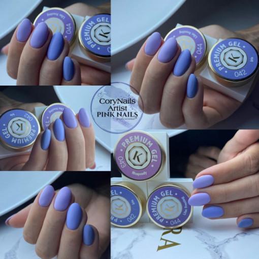 Gel color premium UV/LED Kayara 044 Liliac Frosting