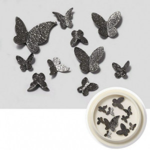 Decoratii metalice 3D Butterfly Black