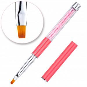 Pensula gel nr 4 - Cristale Pink