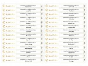Set 28 x Sticker pentru tips gel color Premium Kayara 151-178