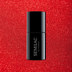 Semilac 346 Chic Red Glitter 7ml