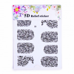 Sticker 5D Black 33