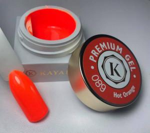 Gel color premium UV/LED Kayara 089 Hot Orange