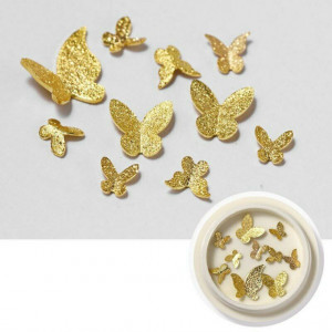 Decoratii metalice 3D Butterfly Gold