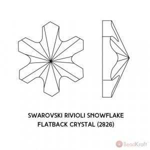 5 cristale Swarovski Rivoli Snowflake AB 5mm