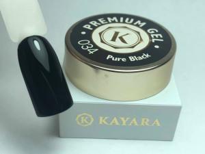 Gel color premium UV/LED Kayara 034 Pure Black