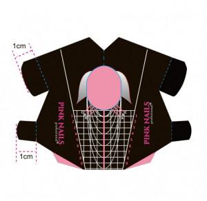 Rola 500 sabloane Pink Nails Professional Almond Black