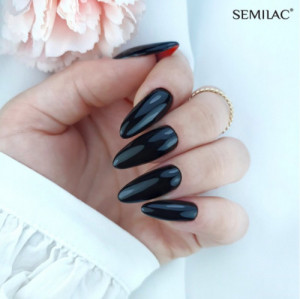 Semilac 300 Perfect Black - Super Cover 7ml