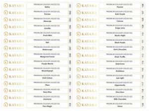 Set 30 x Sticker pentru tips gel color Premium Kayara 091-120