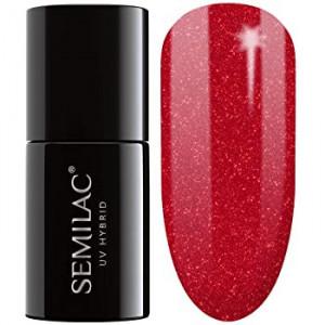 Semilac 025 Glitter Red 7ml