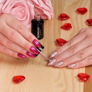 Semilac 348 Charming Ruby Glitter 7ml