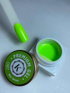 Gel color premium UV/LED Kayara 087 Hot Green