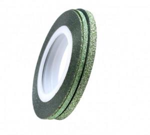Banda adeziva Green Glitter 1mm