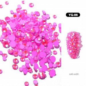 Set cristale Glow in the dark Pink