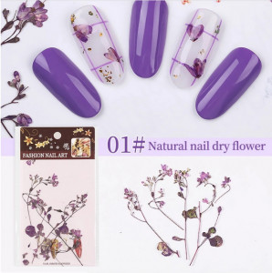 Set flori uscate 01 Mix Purple