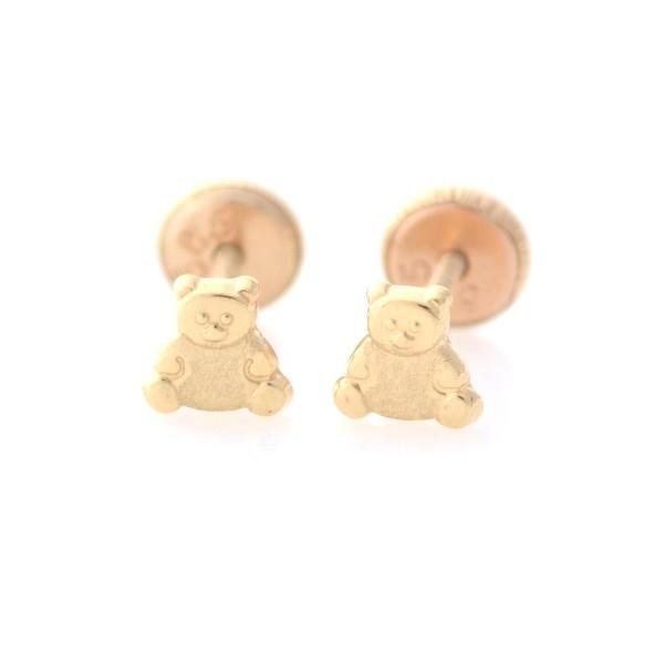 Cercei copii - Ursuleti aur galben imagine
