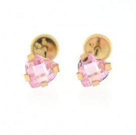 Cercei copii - Inimioare roz