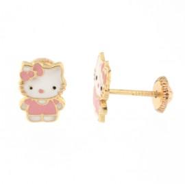 Cercei copii - Kitty roz