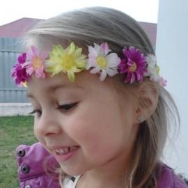 Cercei copii - Rotunzi cu floricele