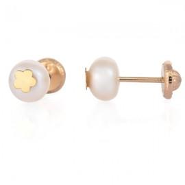 Cercei copii - Perle cu floricele