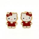 Cercei copii - Kitty rosii