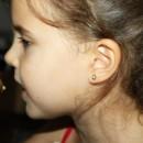 Cercei copii - Floricele cu pietricica aur galben