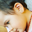 Cercei copii - Caluti cu sidef