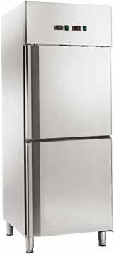 Dulap frigorific din inox, 225/225 litri, cu 2 temperaturi, -2 / +8°C/-18 / -22°C