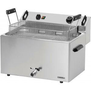 Friteuza electrica 16 litri cu supapa pentru scurgerea uleiului, 400V
