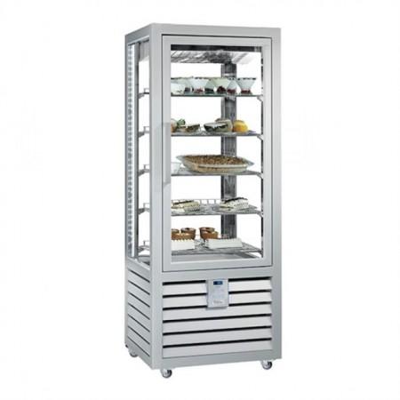 Vitrina frigorifica verticala pentru inghetata / gelaterie ventilata, 1 usa, 541 L