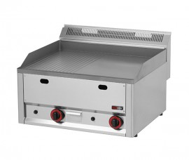 Gratar Fry-top gaz neted-striat 480×650 mm