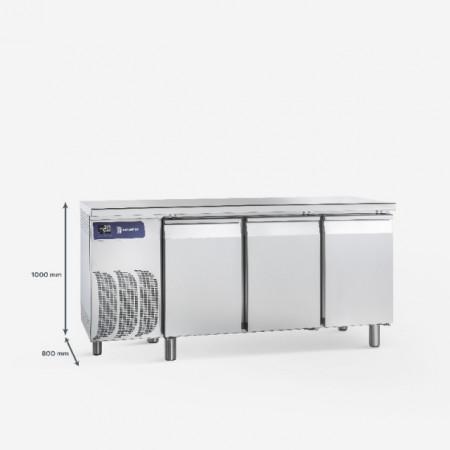 Masa frigorifica pentru patiserie cu 3 usi ,1970x800x900 mm