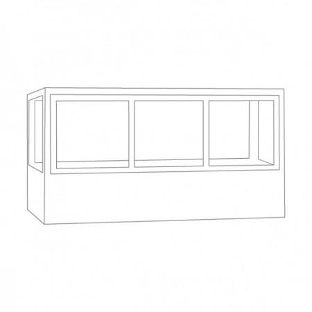 Vitrina frigorifica orizontala pentru inghetata cu 3usi, 528 + 264 L