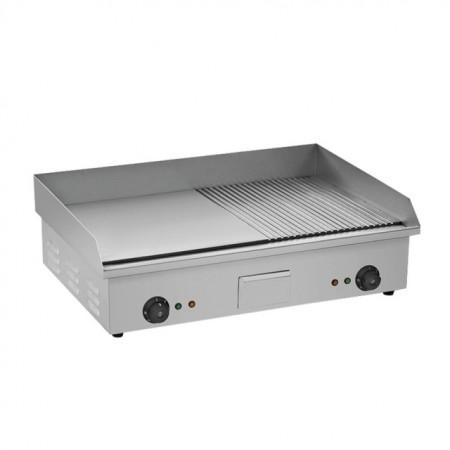 Fry top electric cu suprafata neteda/striata, 735x500mm