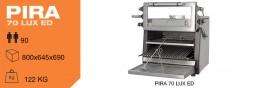 Cuptor pentru steak pe carbuni,deschidere verticala, Pira 70 LUX ED