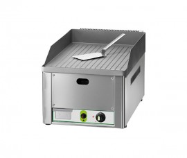 Grill fry-top pe gaz suprafata striata