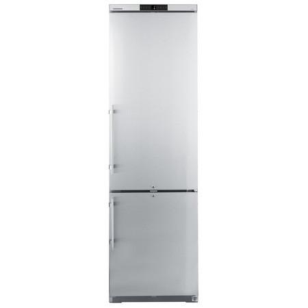 Combina frigorifica din inox 345 l, cu racire dinamica Argintiu