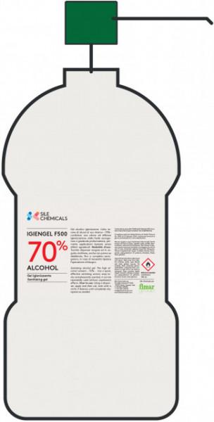 Gel dezinfectant pe baza de alcool, 6x500ml
