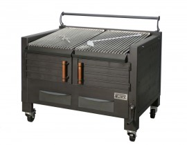 Gratar profesional barbeque pentru steak pe carbuni, 1200x820x930 mm