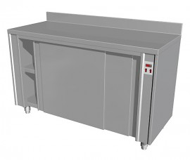 Masa calda tip dulap cu usi glisante si rebord , 1600x700mm