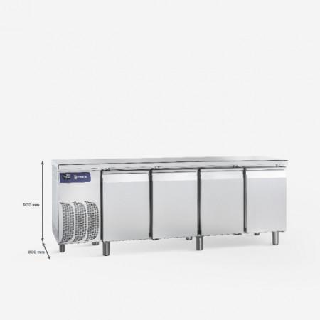 Masa frigorifica pentru patiserie cu 4 usi ,2500x800x900 mm