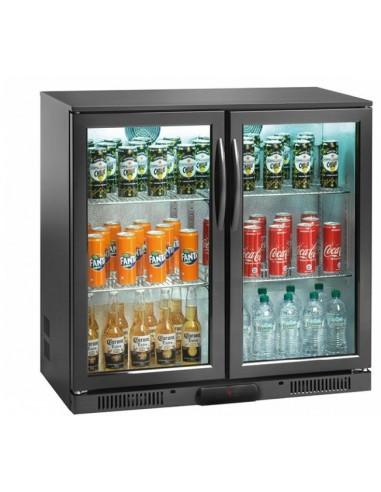 Vitrina frigorifica 175 litri, inaltime 840mm cu 2 usi batante