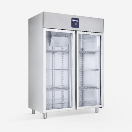 Dulap frigorific din inox(PREMIUM), 1400 litri , cu usi de sticla