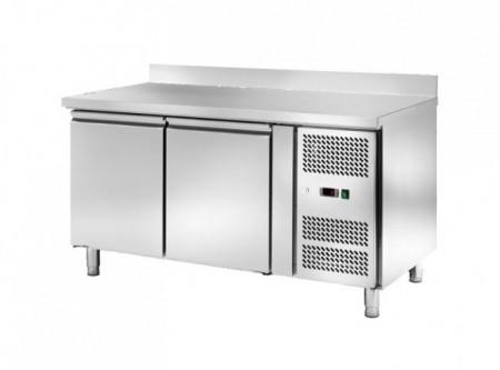 Masa frigorifica pentru patiserie cu 2 usi si rebord, 1510x800mm