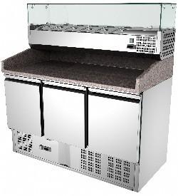 Masa frigorifica pentru pizza cu trei usi , +2°/ +8° C