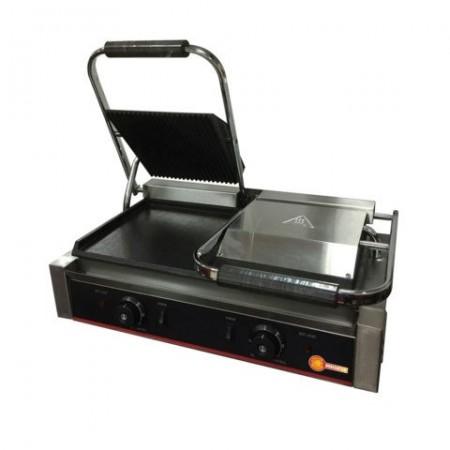 Toaster dublu cu mecanism prin apasare pe placi, striata